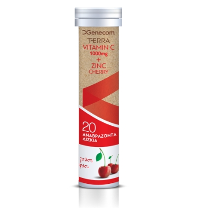 Terra Vitamin C 1000mg + Zinc, Cherry