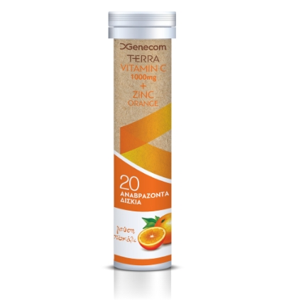Terra Vitamin C 1000mg + Zinc, Orange